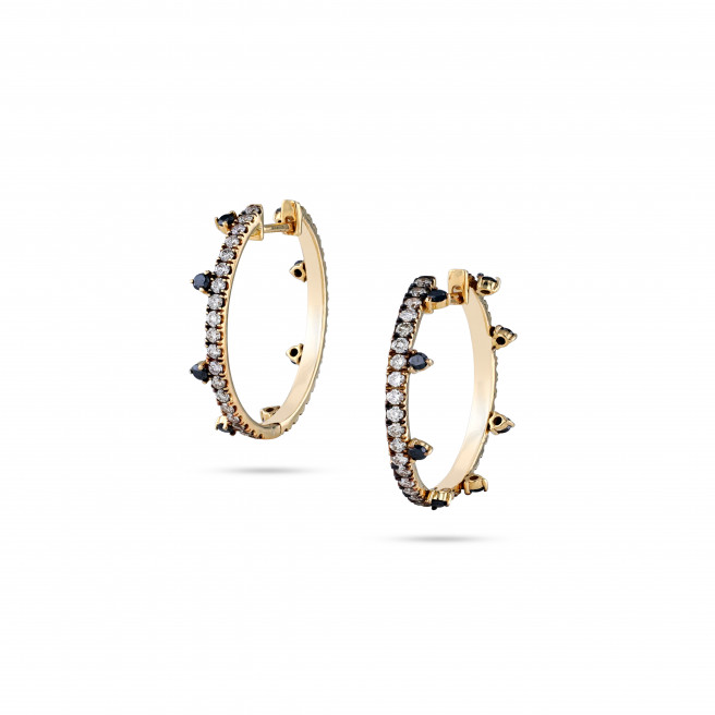 Desert Nights Large Hoops by Meher Jewellery on curated-crowd.com