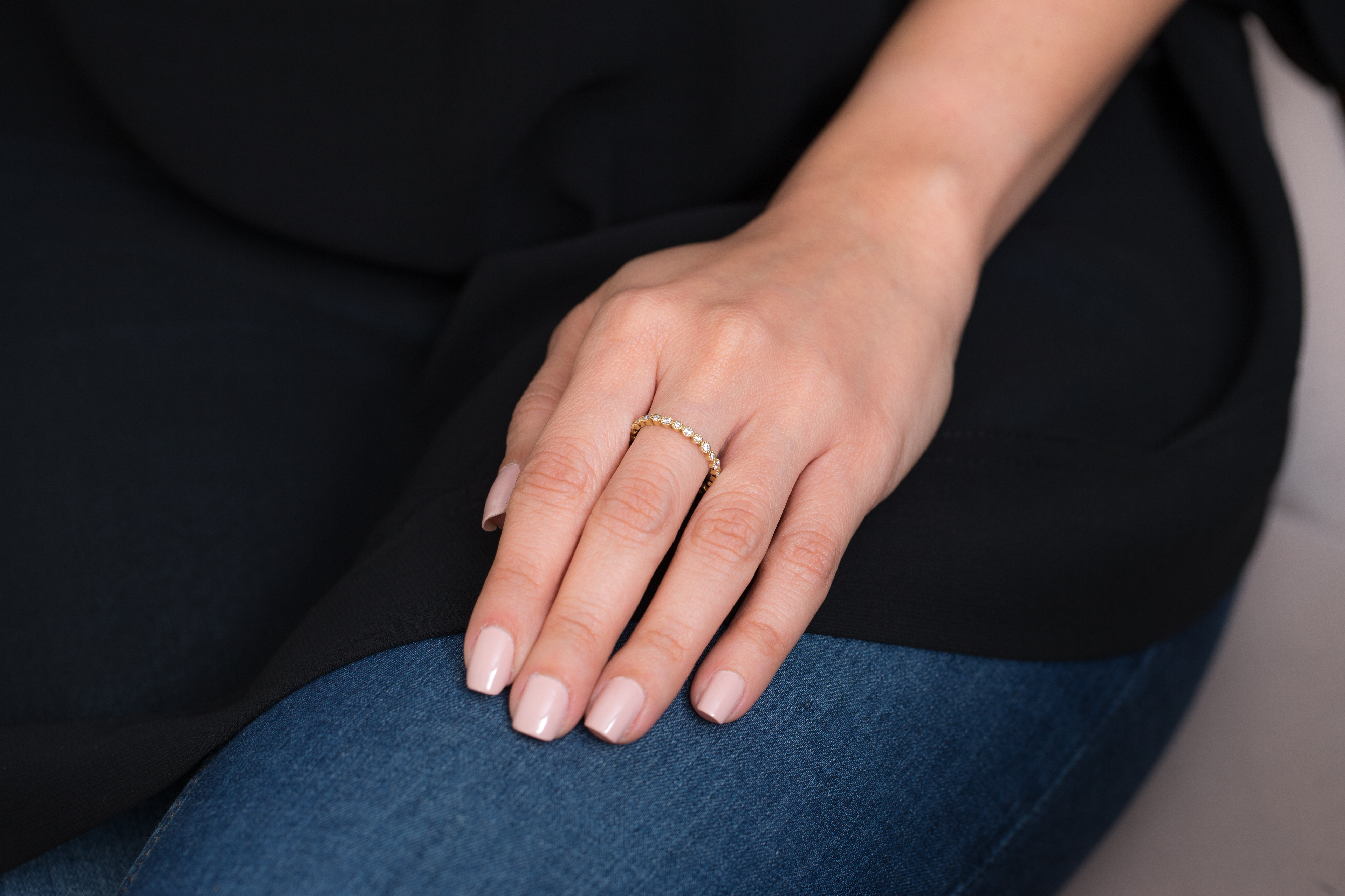 Big Small Diamond Ring by Meher Jewellery on curated-crowd.com
