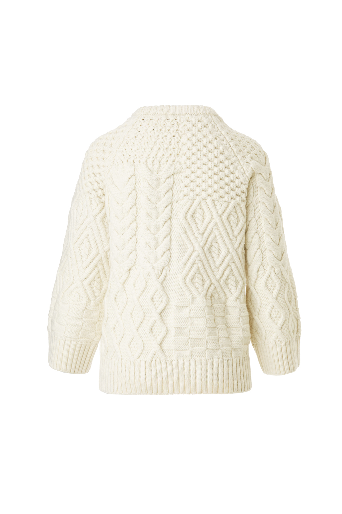 Knitted Structured Sweater by Ami Amalia on curated-crowd.com