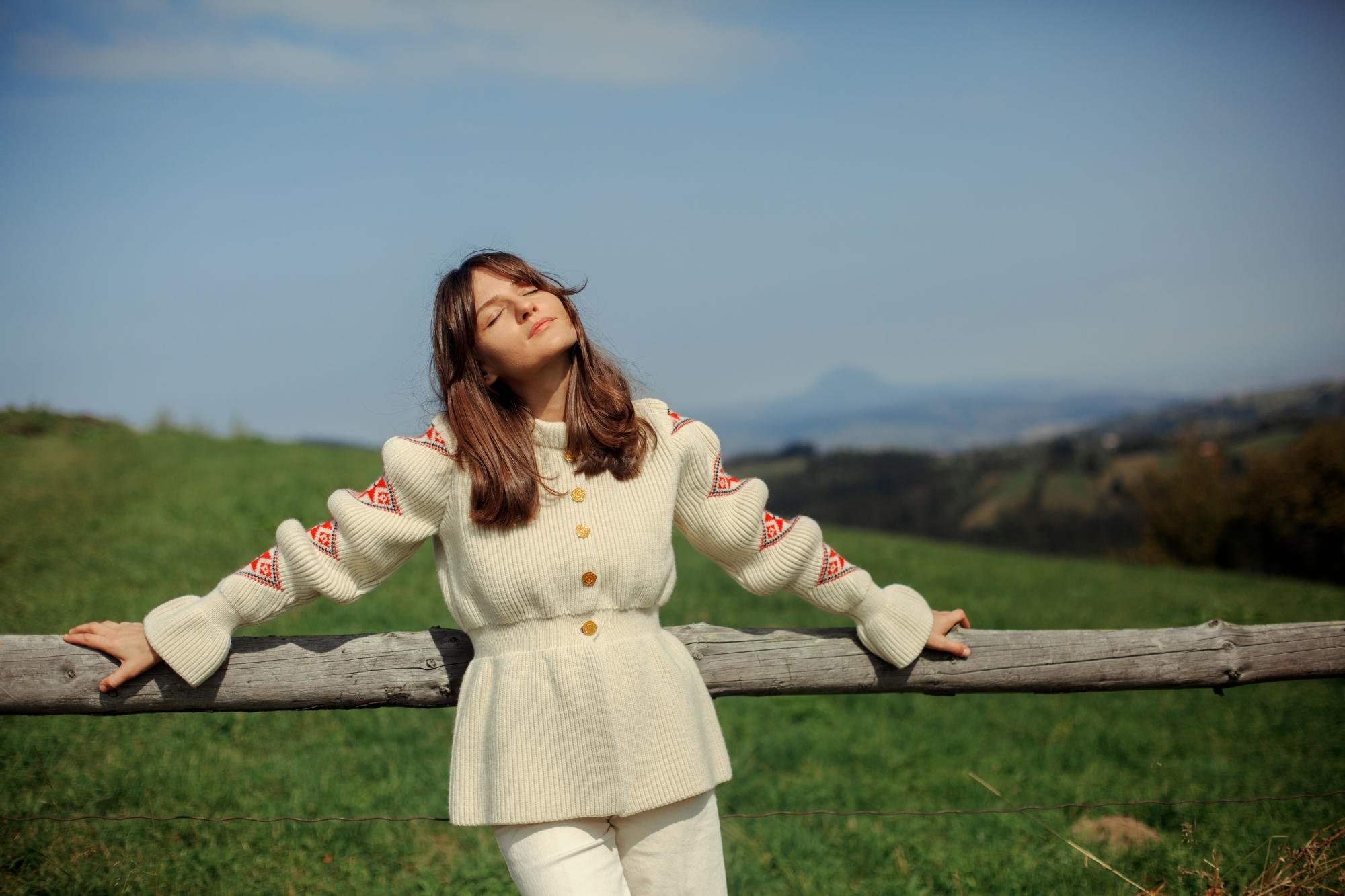 """""""Romanian Blouse"""" Cardigan - Organic White by Ami Amalia on curated-crowd.com"""