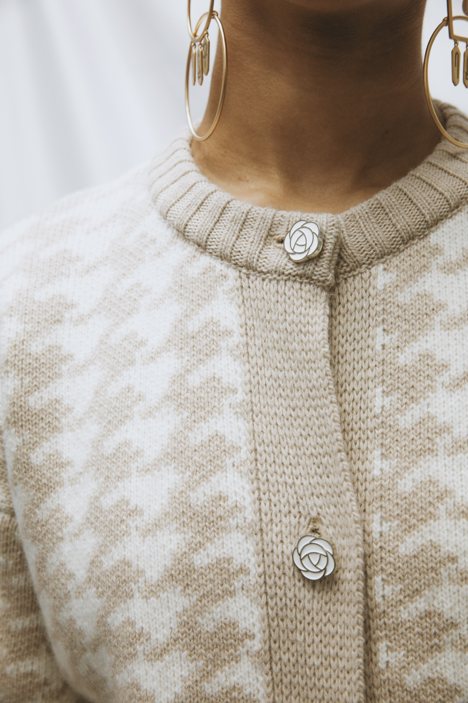 Houndstooth Jacket - Light Taupe by Ami Amalia on curated-crowd.com
