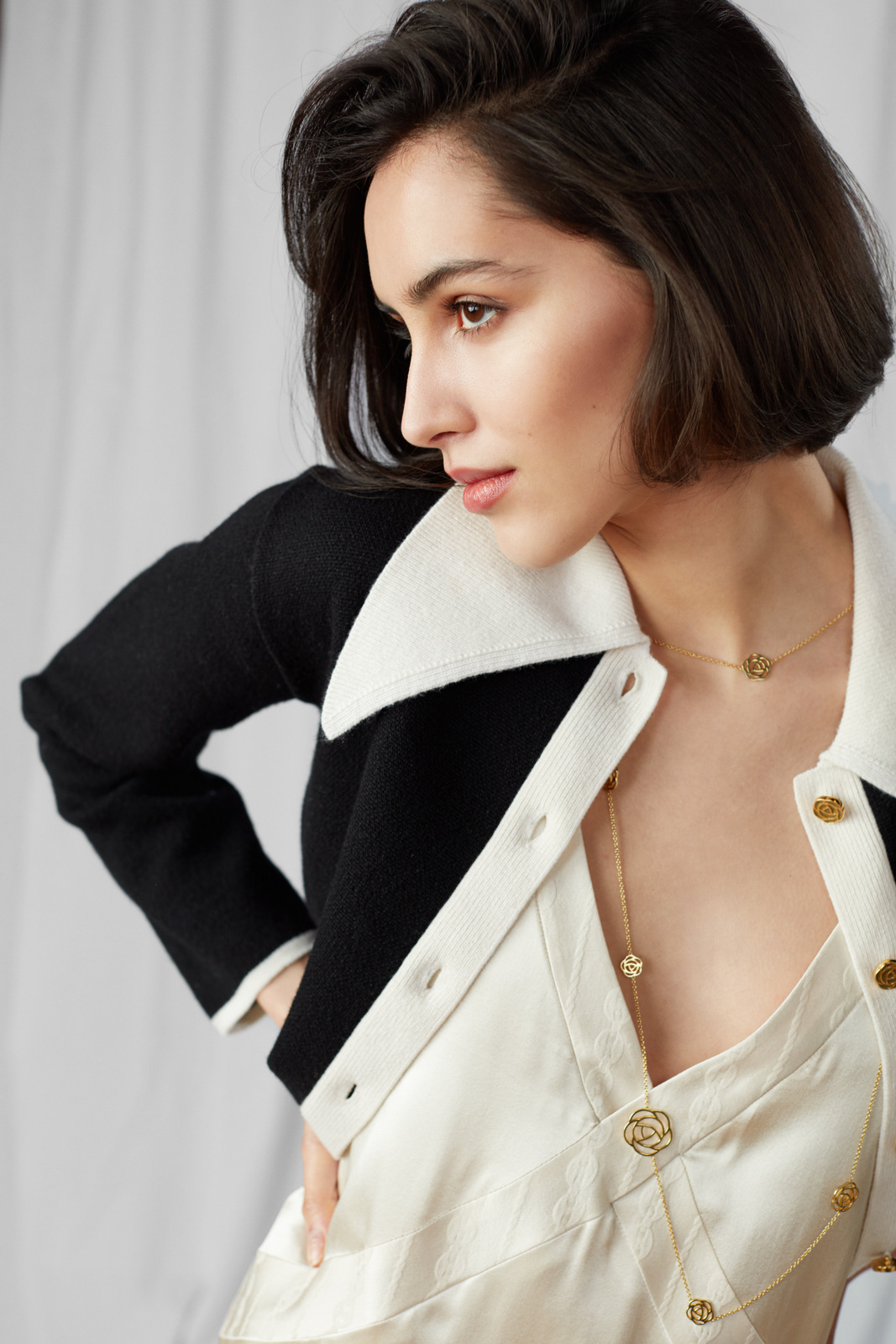 The Knitted Black Jacket by Ami Amalia on curated-crowd.com