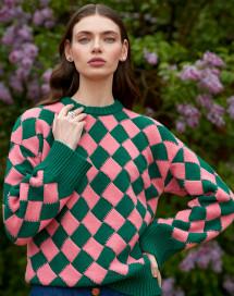 """""""Jeu de carrés"""" Sweater by Ami Amalia on curated-crowd.com"""