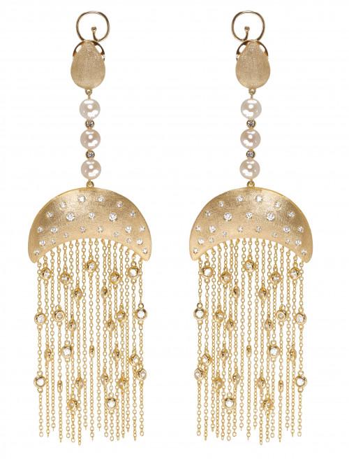 Statement Tassel Drop Earrings by AMMANII on curated-crowd.com
