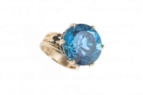 Blue Topaz Crown Statement Ring by AMMANII on curated-crowd.com