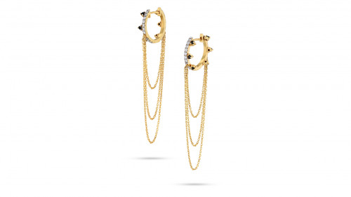 Desert Nights with Small Hoop and Chains by Meher Jewellery on curated-crowd.com