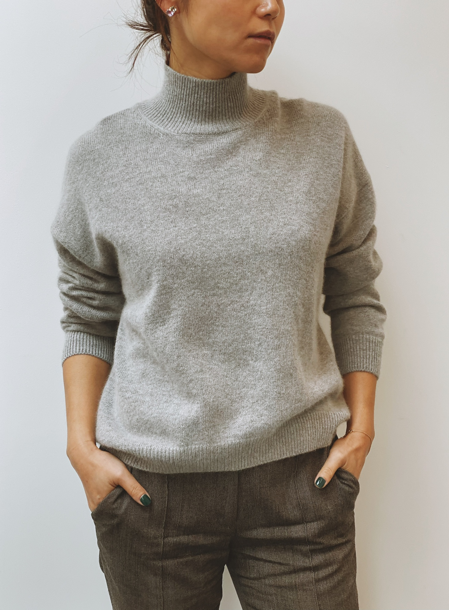 Lilly Cashmere Jumper - Grey by Curated Crowd Collective on curated-crowd.com