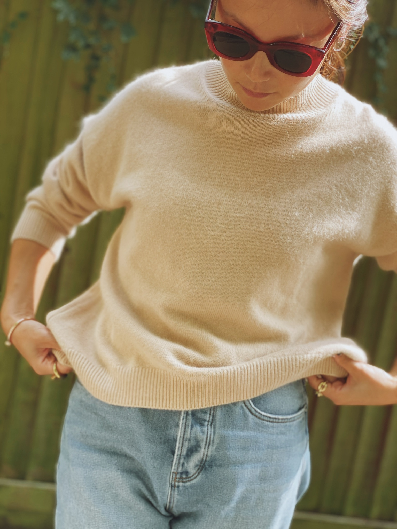Lilly Cashmere Jumper - Beige by Curated Crowd Collective on curated-crowd.com