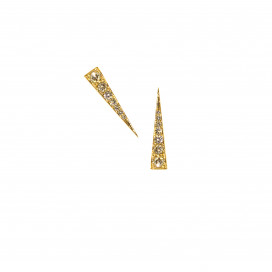 Spark Earrings - Champagne Diamond Yellow Gold by Daou Jewellery on curated-crowd.com