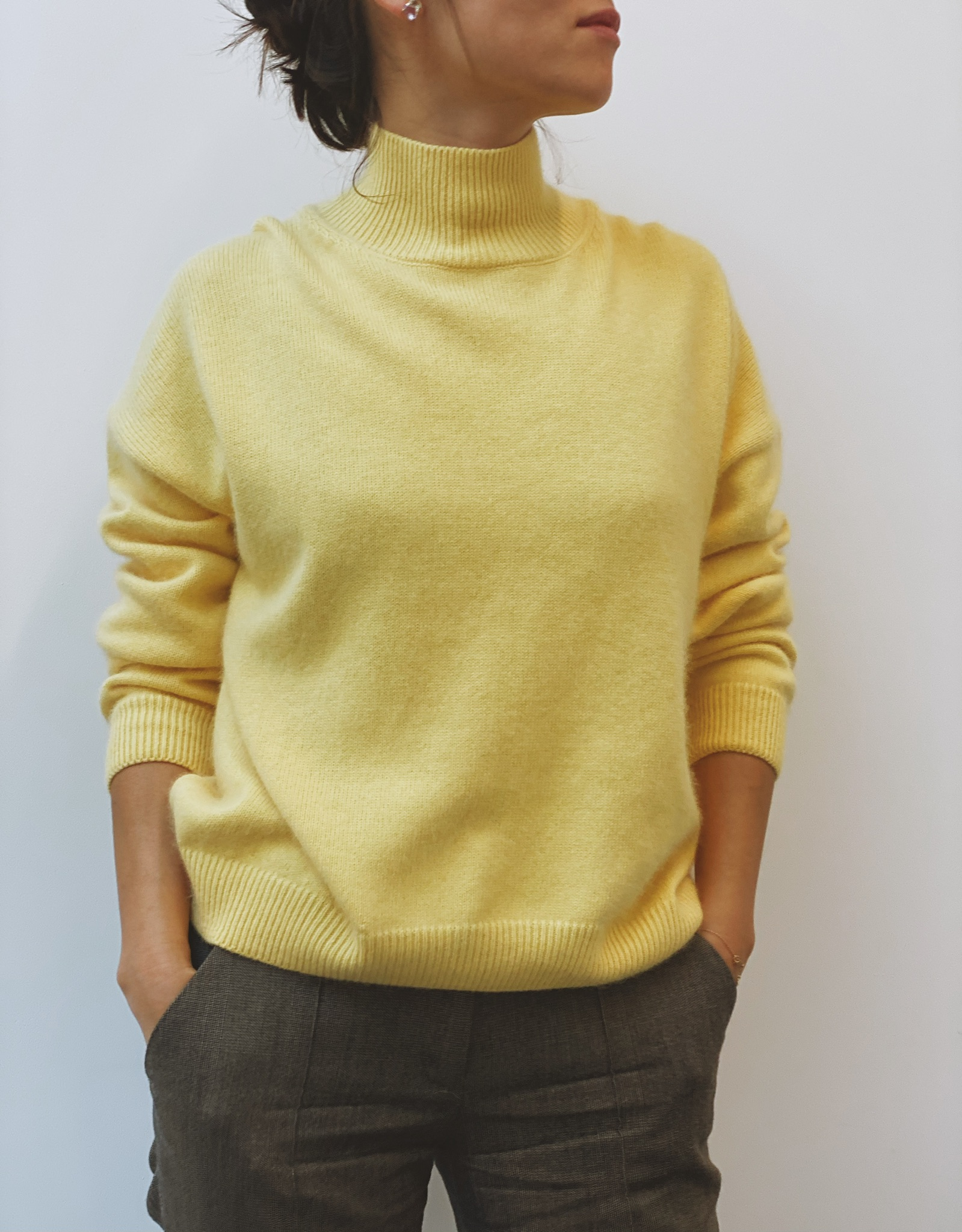 Lilly Cashmere Jumper - Yellow by Curated Crowd Collective on curated-crowd.com
