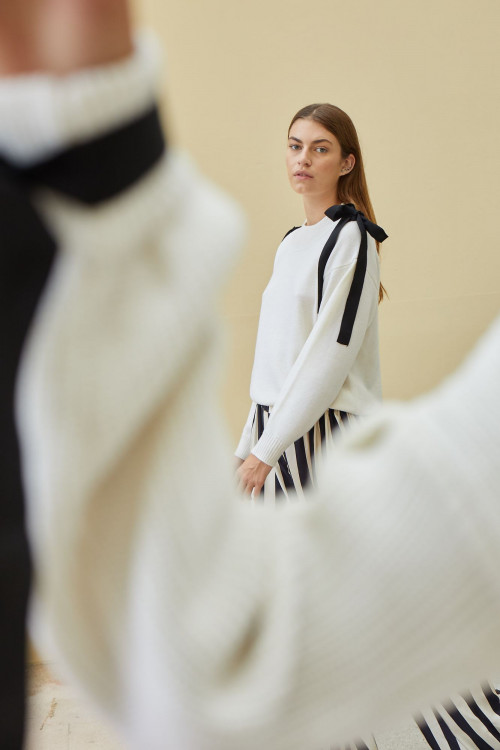 Bow Jumper by PAPER London on curated-crowd.com