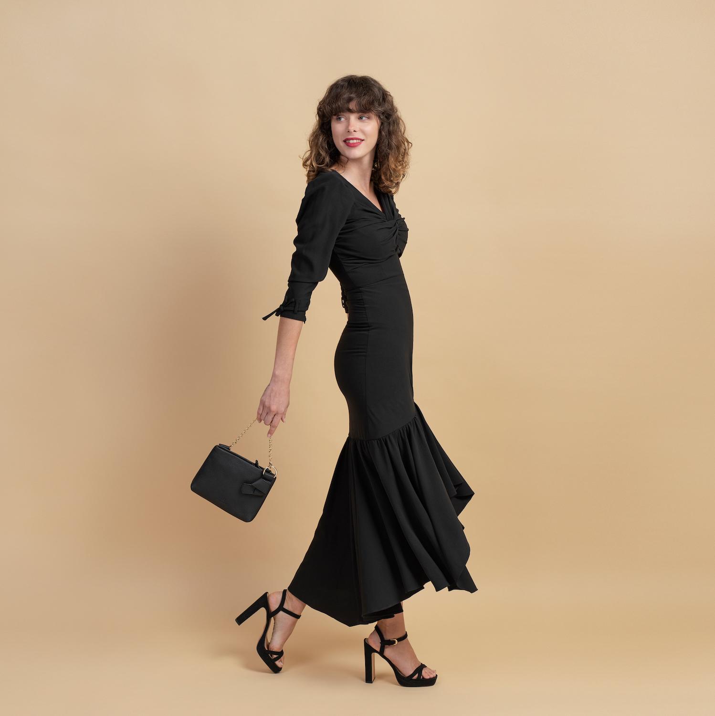 Mini Mayfair Shoulder Bag - Black by Esin Akan on curated-crowd.com