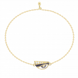 Eye Charm Bracelet in 18k gold by Aveen on curated-crowd.com