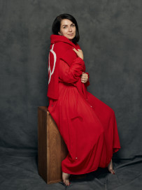 Peony Red Sweater by Ami Amalia on curated-crowd.com