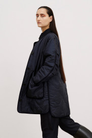 The Signature Reversible Quilt - Navy by Marfa Stance on curated-crowd.com