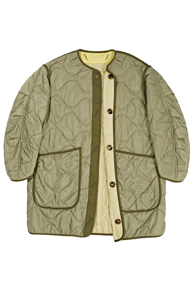 The Signature Reversible Quilt - Sage Green by Marfa Stance on curated-crowd.com