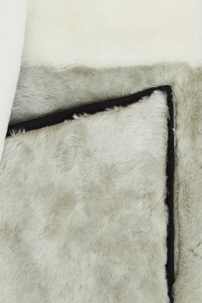 The Reversible Shearling Bomber - Natural by Marfa Stance on curated-crowd.com