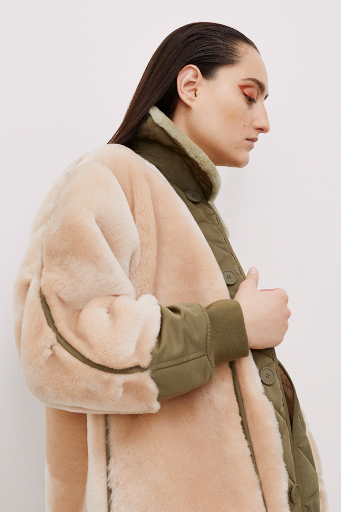 The Reversible Shearling Bomber - Blush by Marfa Stance on curated-crowd.com