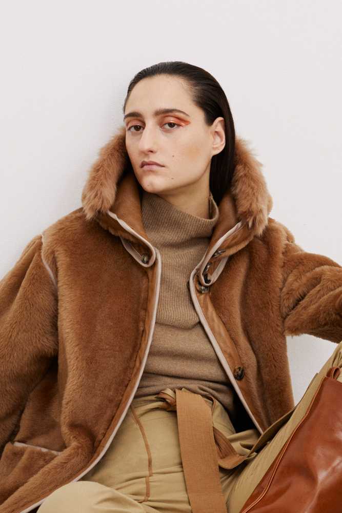 The Reversible Shearling Coat - Burnt Sienna by Marfa Stance on curated-crowd.com