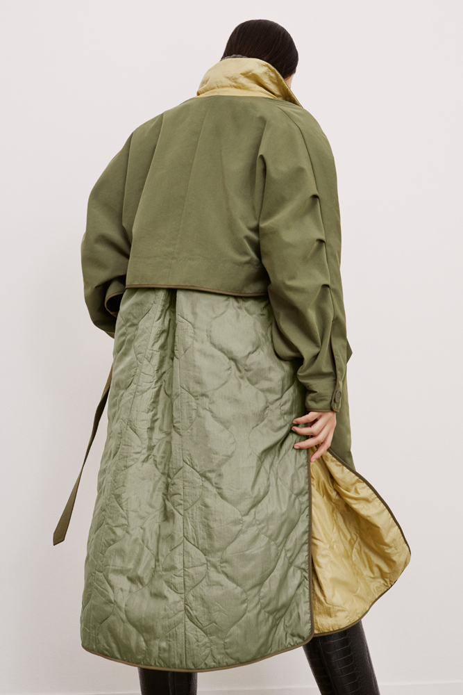 The Reversible Trench Coat - Olive by Marfa Stance on curated-crowd.com