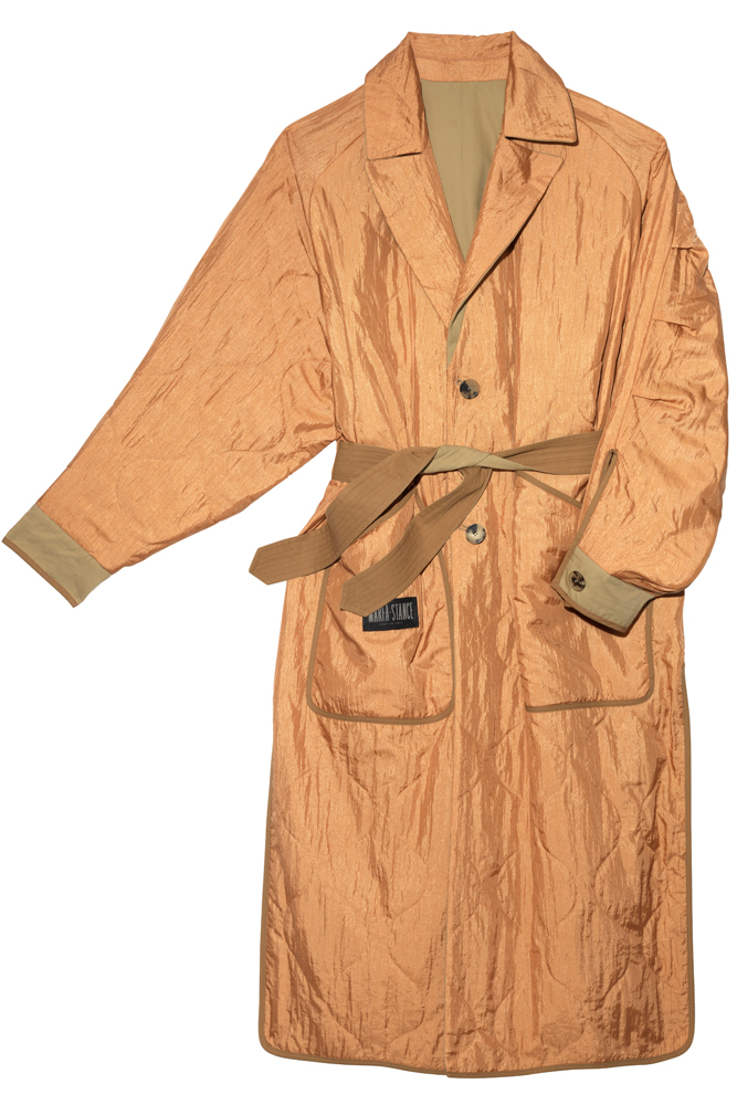 The Reversible Trench Coat - Sand by Marfa Stance on curated-crowd.com