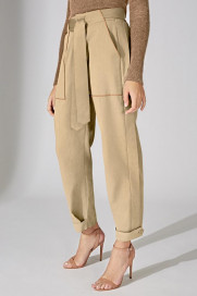 The Signature Utility Trouser - Sand by Marfa Stance on curated-crowd.com