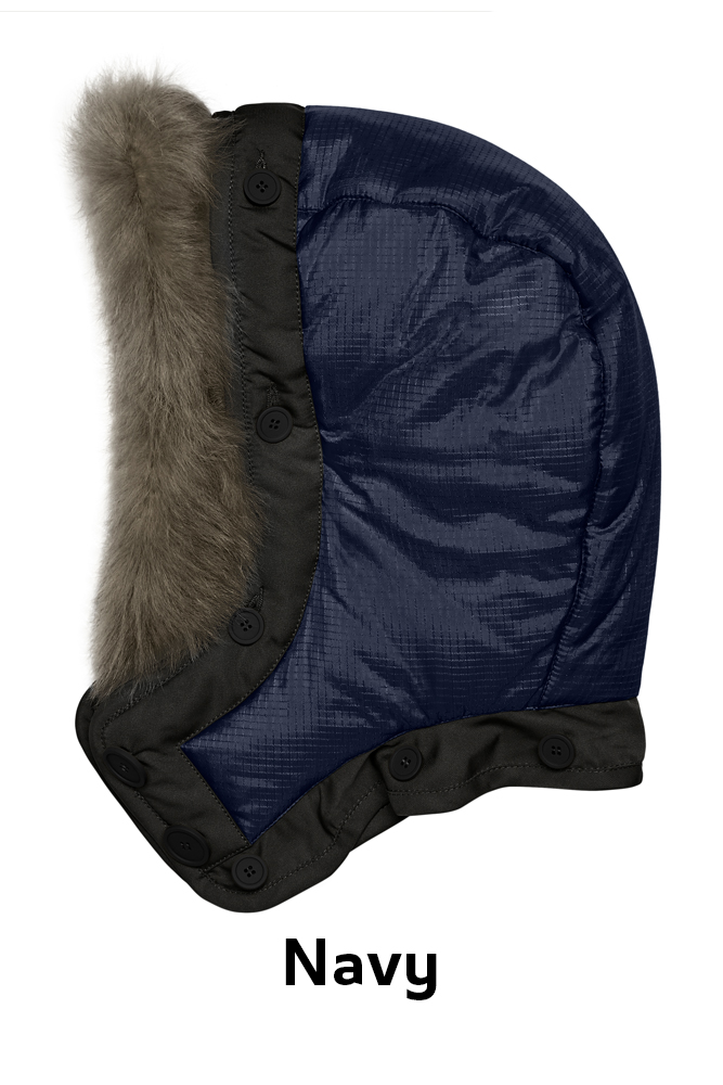 The Reversible Quilted Hood - Navy by Marfa Stance on curated-crowd.com