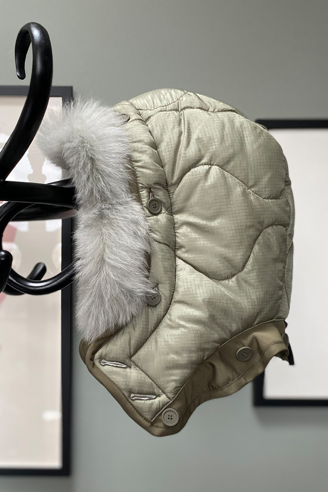 The Reversible Quilted Hood - White by Marfa Stance on curated-crowd.com
