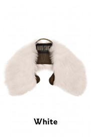 The Shearling Collar - White by Marfa Stance on curated-crowd.com