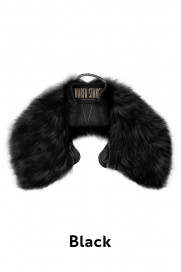 The Shearling Collar - Black by Marfa Stance on curated-crowd.com