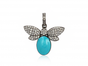 Tania Pendant Necklace by Lalou London on curated-crowd.com