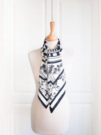 Eastern & Oriental Silk Scarf, Black White by Nonamu on curated-crowd.com