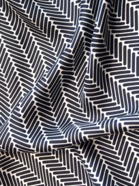 Herringbone Lapis Silk Scarf, Black by Nonamu on curated-crowd.com