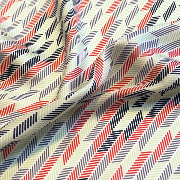 Herringbone Lapis Silk Scarf, Red Black Green by Nonamu on curated-crowd.com