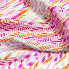 Herringbone Lapis Silk Scarf, Pastel Blue Pink Green Orange by Nonamu on curated-crowd.com