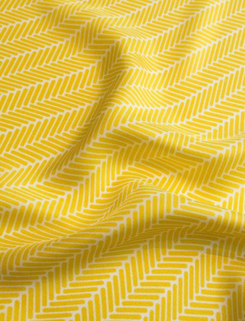 Herringbone Lapis Silk Scarf, Canary Yellow by Nonamu on curated-crowd.com