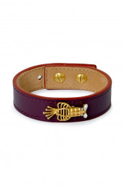 Lobster Bracelet Leather - Purple by Sonia Petroff on curated-crowd.com