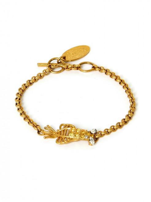 Lobster Bracelet Chain by Sonia Petroff on curated-crowd.com