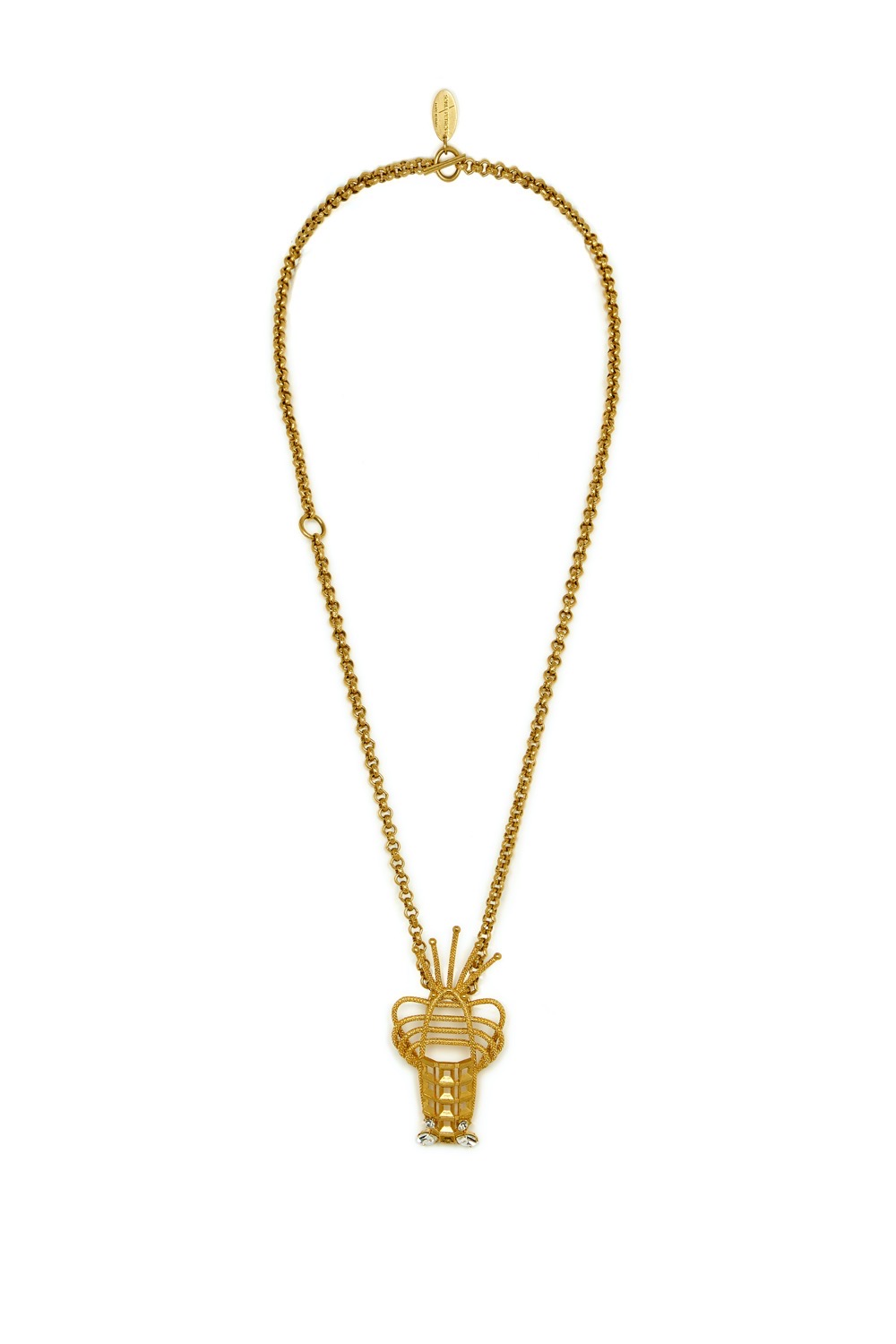 Lobster Pendant Chain Necklace by Sonia Petroff on curated-crowd.com