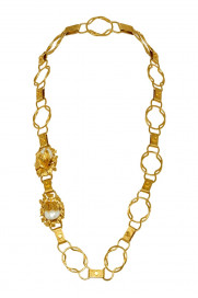 PRE-ORDER For November 25th - Moon Flower Belt/Necklace - Gold by Sonia Petroff on curated-crowd.com