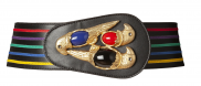 Red Parrot Statement Belt by Sonia Petroff on curated-crowd.com