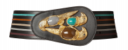 Green Parrot Statement Belt by Sonia Petroff on curated-crowd.com