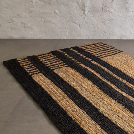 Bunaii Rug - Black and Natural by Kam Ce Kam on curated-crowd.com