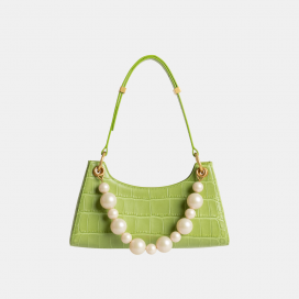 Green Croc Froggy Bag by APEDE MOD on curated-crowd.com