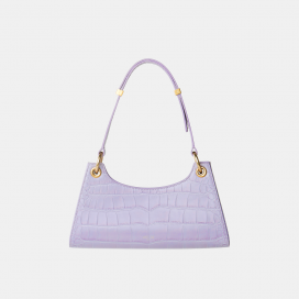 Purple Croc Froggy Golden Bag by APEDE MOD on curated-crowd.com