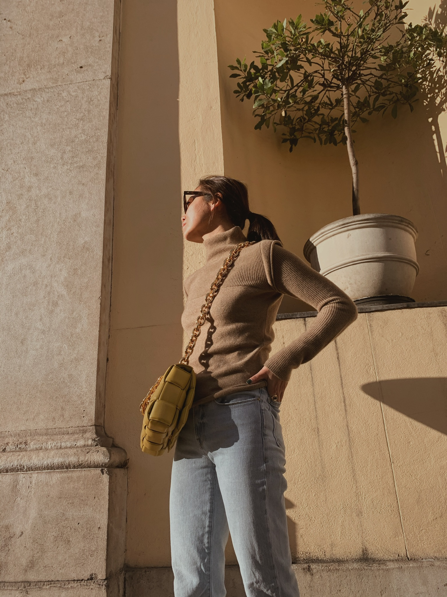 The Cashmere High Neck - Fawn by Marfa Stance on curated-crowd.com