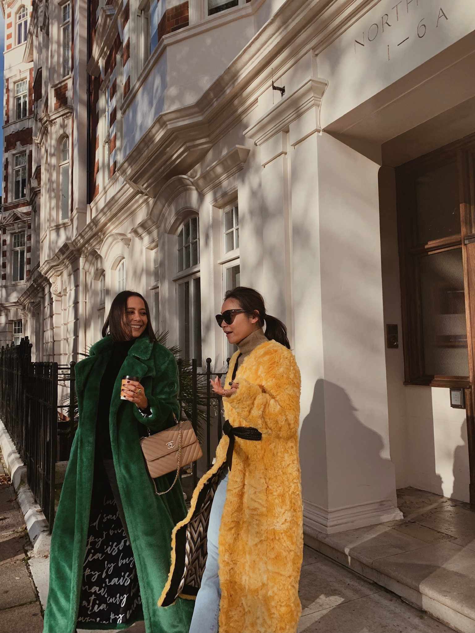 Genevieve - Faux Fur Green by Maison Atia on curated-crowd.com
