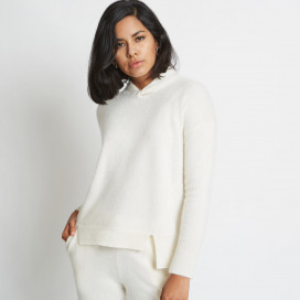 Farah Twist Neckband Cashmere Sweater by Santicler on curated-crowd.com