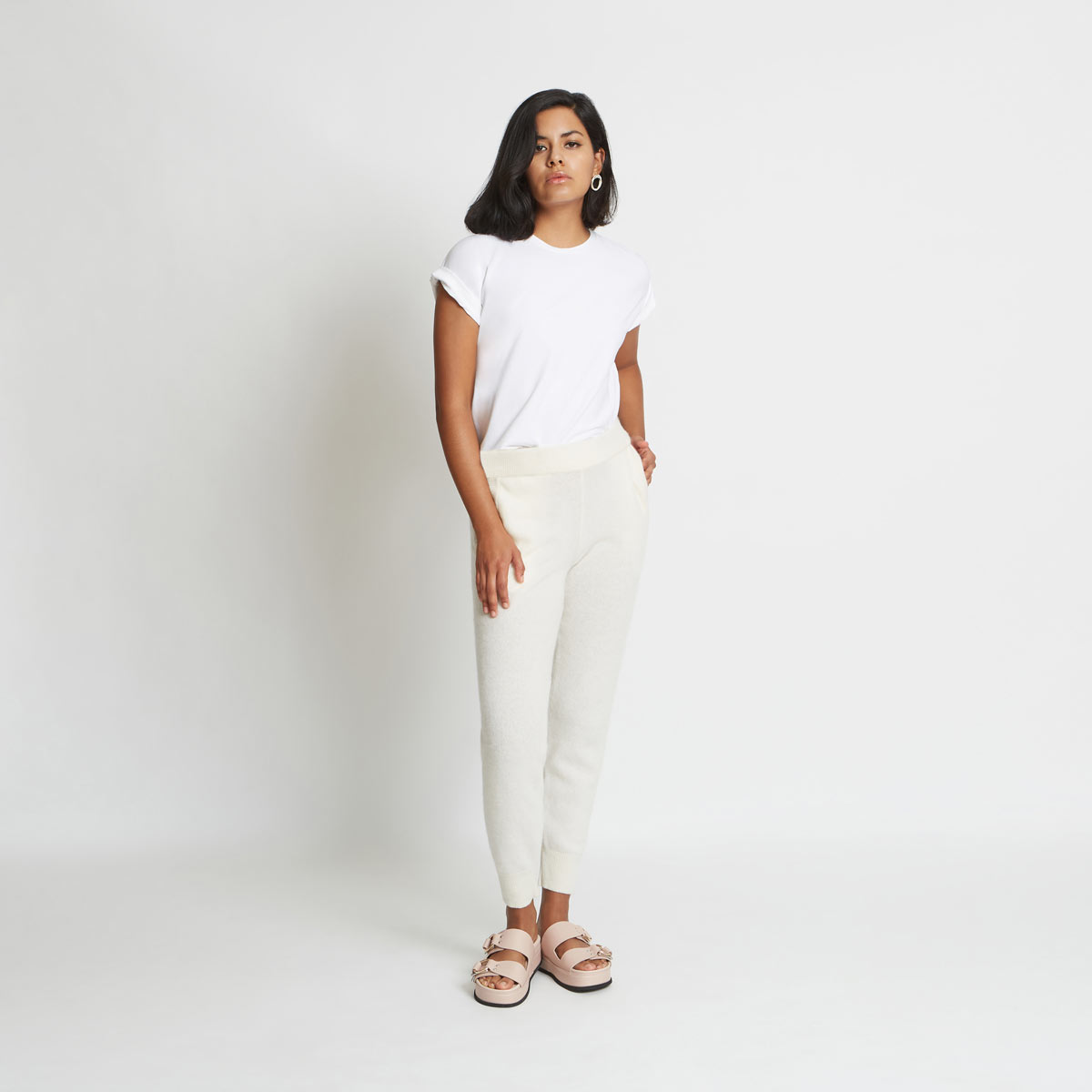 Addison Cashmere Track Pant by Santicler on curated-crowd.com