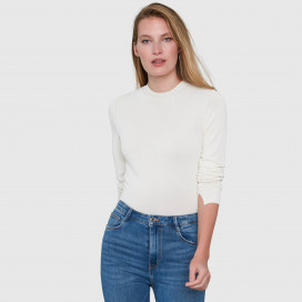 Amber Crew Neck Viscose Bodysuit by Santicler on curated-crowd.com